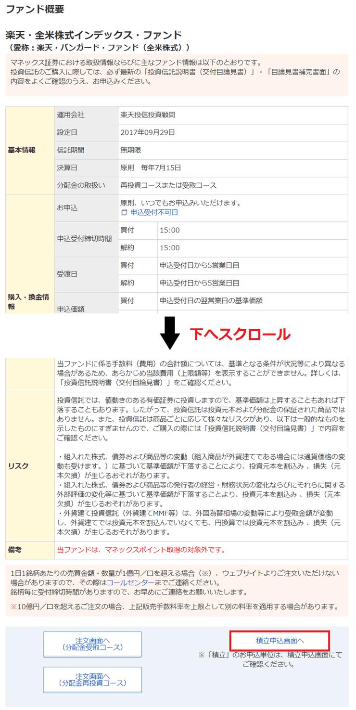 【マネックス証券】ファンド概要