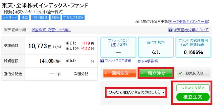 【楽天証券】楽天・全米株式インデックスファンド