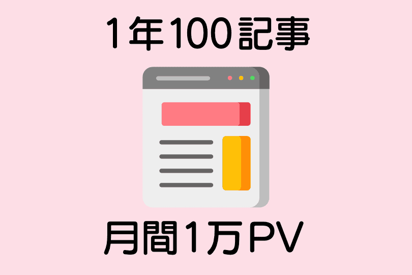 100記事で月間1万PV