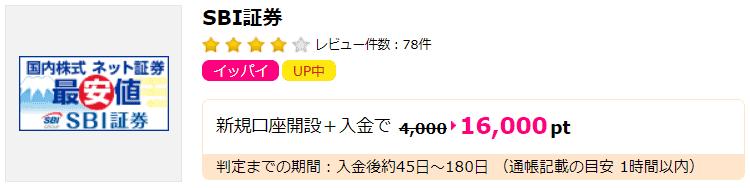【ハピタス】SBIポイント獲得条件